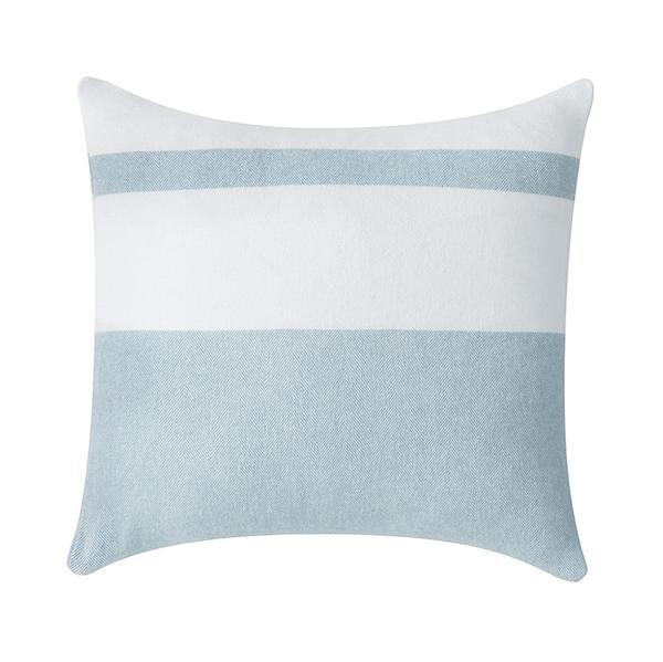 Glacier Sydney Herringbone Stripe Pillow | Sydney Herringbone Stripe Italian Pillows