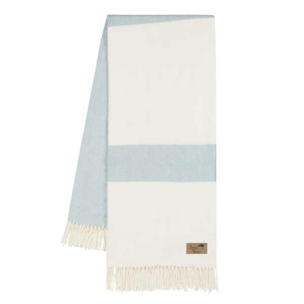 Glacier Sydney Herringbone Stripe Throw | Sydney Herringbone Stripe Italian Throws