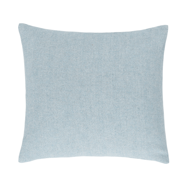 Glacier Solid Herringbone Pillow | Solid Herringbone Italian Pillows