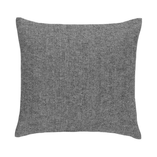 Charcoal Solid Herringbone Pillow | Solid Herringbone Italian Pillows