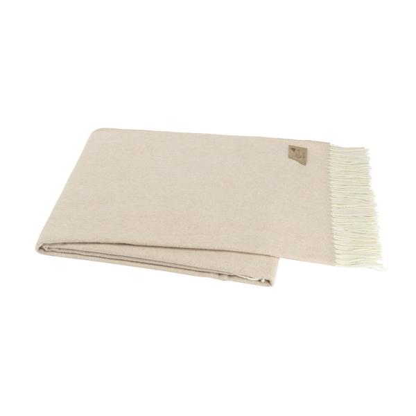 Soft Linen Italian Herringbone Throw | Herringbone