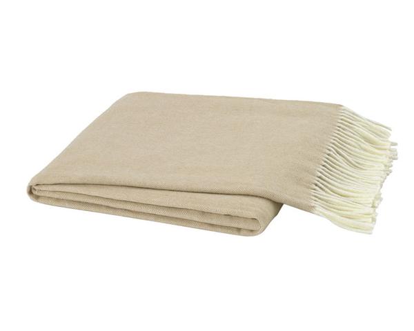 Soft Linen Italian Herringbone Throw | Italian Herringbone Throws