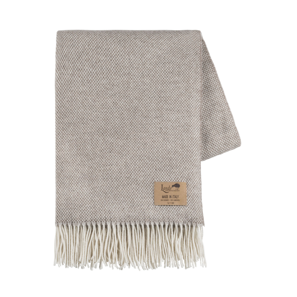 Taupe Juno Cashmere Throw | Italian Juno Cashmere Throws