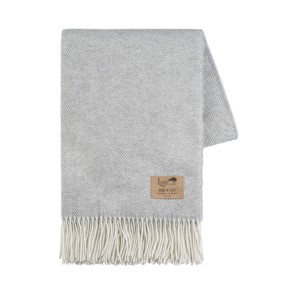 Light Gray Juno Cashmere Throw | Juno Cashmere