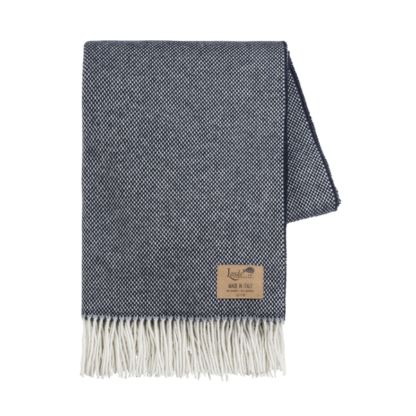 Navy Juno Cashmere Throw | Italian Juno Cashmere Throws