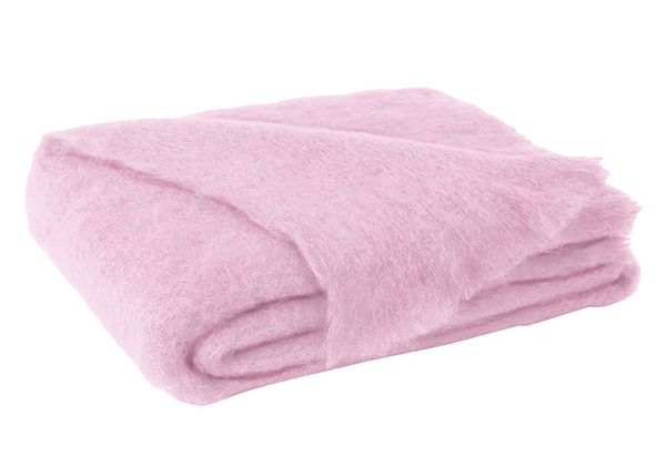 Cotton Candy Brushed Mohair Throw | New Zealand Mohair Throws