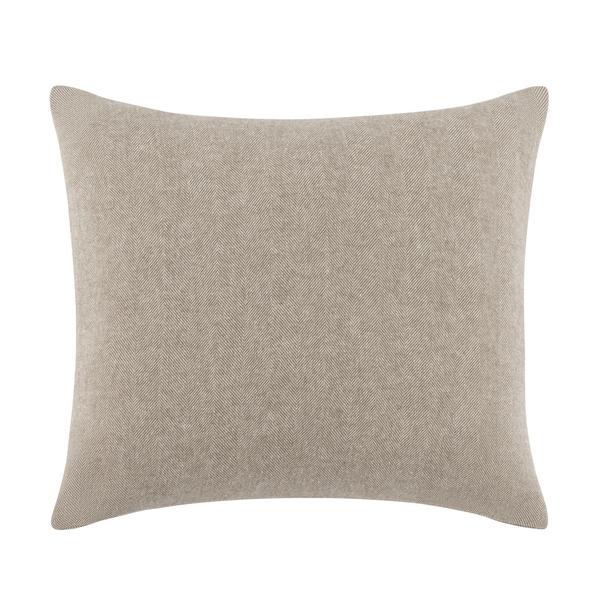 Barnwood Solid Herringbone Pillow | Solid Herringbone Italian Pillows