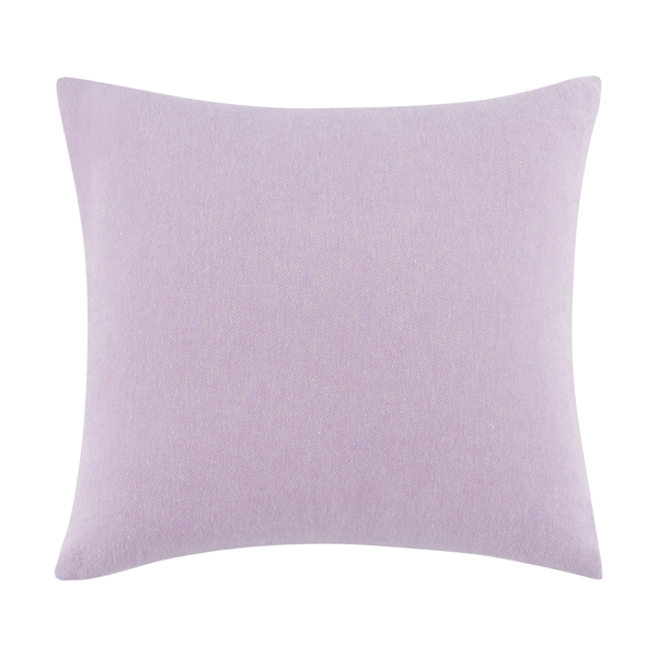 Lilac Solid Herringbone Pillow | Solid Herringbone Italian Pillows