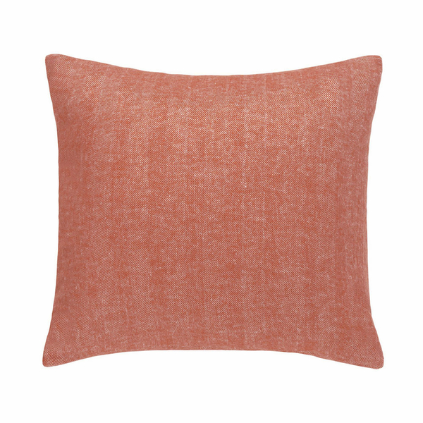 Spicy Orange Solid Herringbone Pillow | Solid Herringbone Italian Pillows