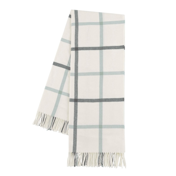 Charcoal and Seaglass Tattersall Plaid Throw | Tattersall Plaid Italian Throws