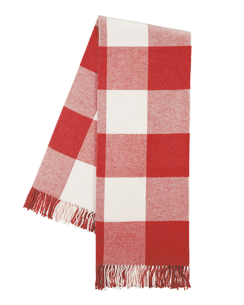 Red Poppy Buffalo Check Throw | Buffalo Check Italian Throws