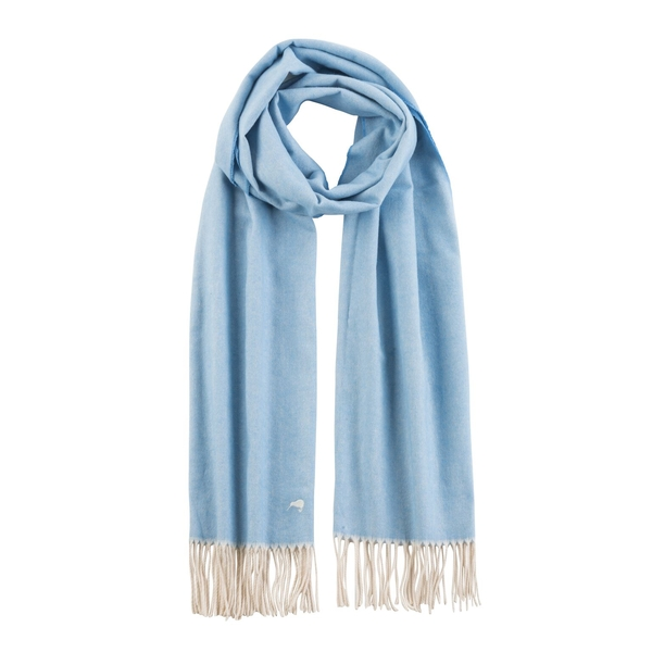Denim Herringbone Scarf | Scarves