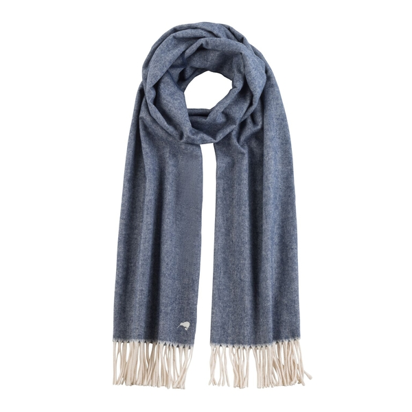 Navy Herringbone Scarf | Scarves