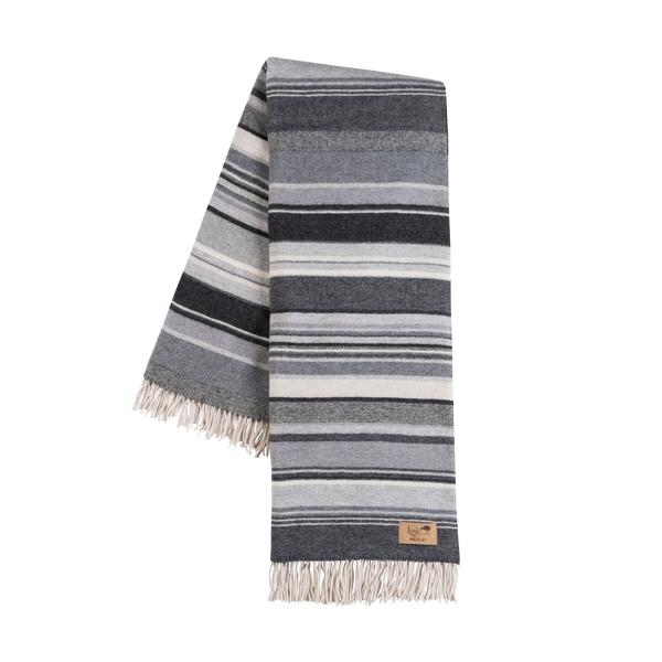 Milano Black Italian Blanket | Milano Striped Merino Wool