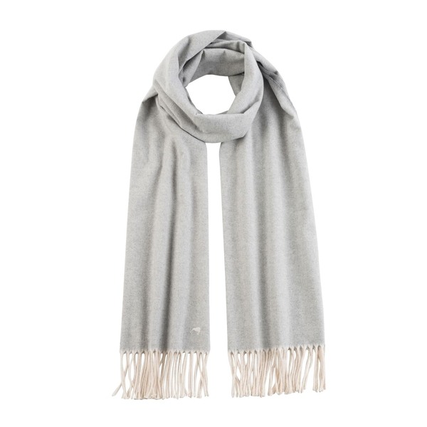Light Gray Herringbone Scarf | Scarves