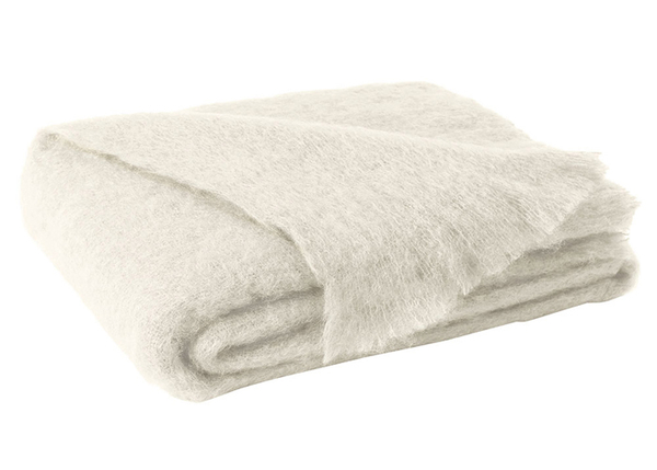 Cream Brushed Mohair Throw | New Zealand Mohair Throws