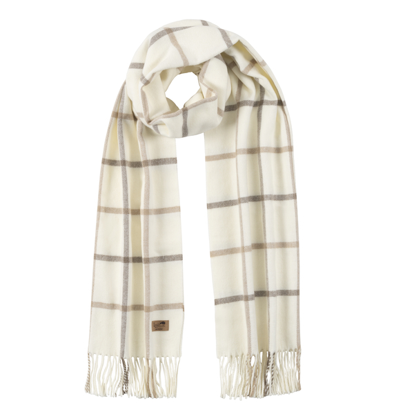 Barnwood & Dune Cotton Blend Tattersall Plaid Scarf | Scarves