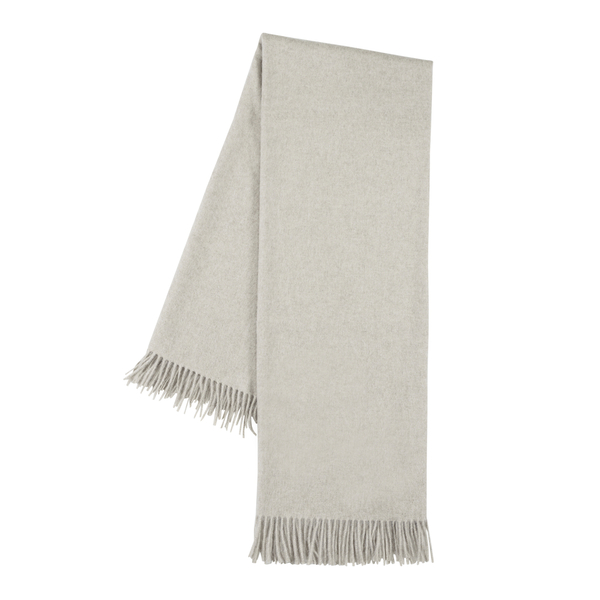 Oyster Luxe Cashmere Throw | Luxe Italian Cashmere Throws