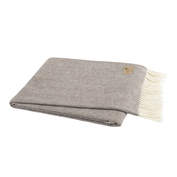 Mink Italian Herringbone Throw | Herringbone
