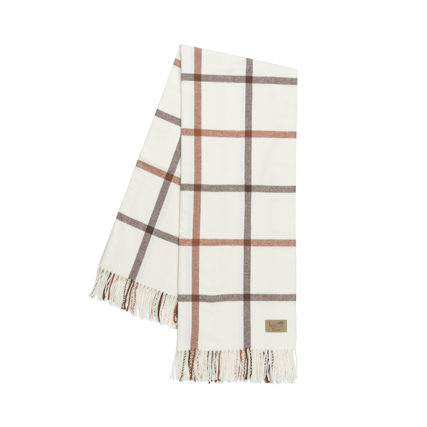 Cocoa and Copper Tattersall Plaid Throw | Tattersall Plaid