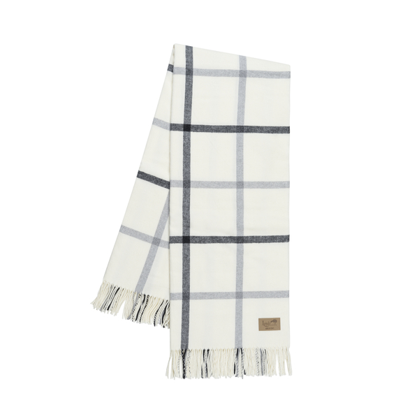 Light Gray and Graphite Tattersall Plaid Throw | Tattersall Plaid