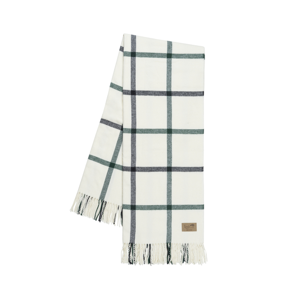 Pine and Graphite Tattersall Plaid Throw | Tattersall Plaid Italian Throws