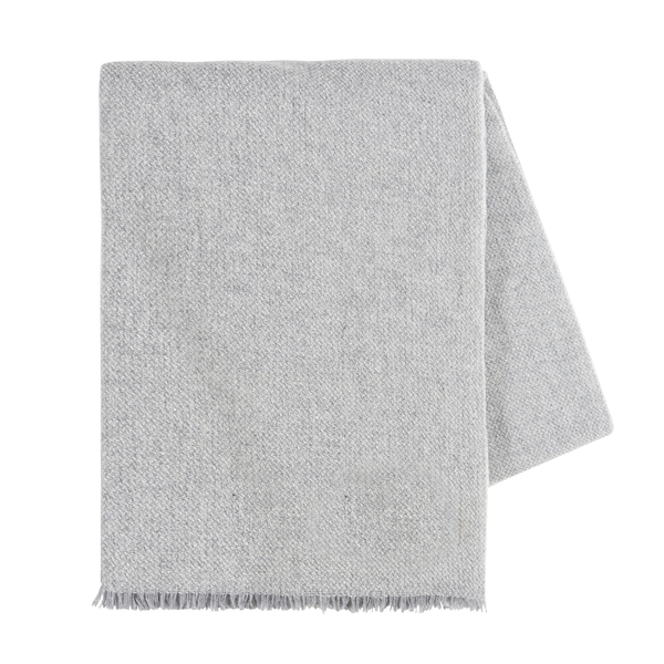 Light Gray Italian Luna Cashmere Throw | Italian Luna Cashmere Throws