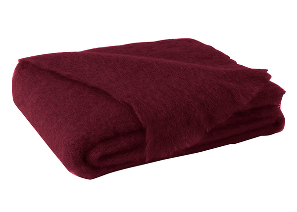 Cranberry Brushed Mohair Throw | New Zealand Mohair Throws