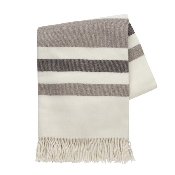 Beige and Taupe Italian Riviera Cashmere Throw | Riviera Cashmere