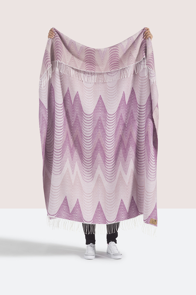 Pink Deco Cotton Jacquard Throw | Shop By Collection