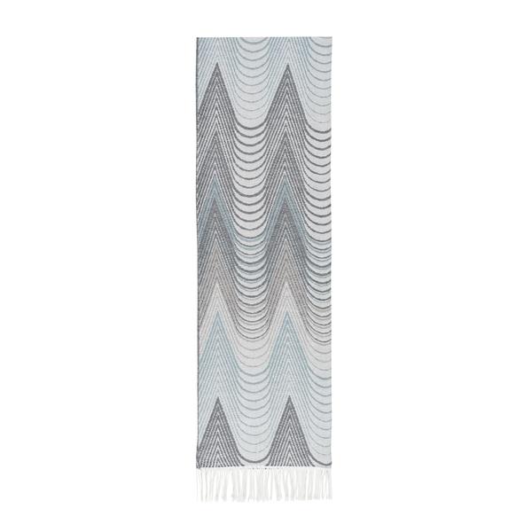Gray/Teal Deco Cotton Jacquard Throw | Deco Cotton Jacquard