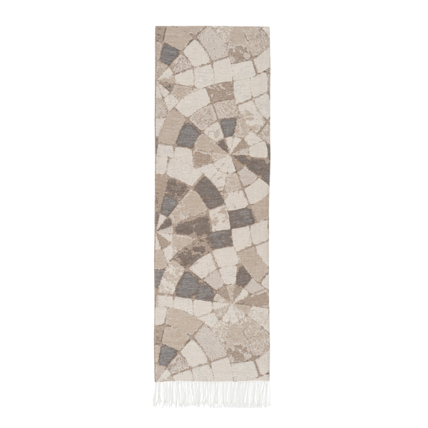 Taupe Mosaic Cotton Jacquard Throw | Mosaic Cotton Jacquard