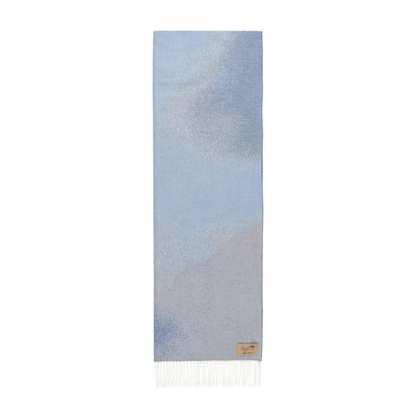 Blue Ombré Cotton Jacquard Throw | Ombré Cotton Jacquard