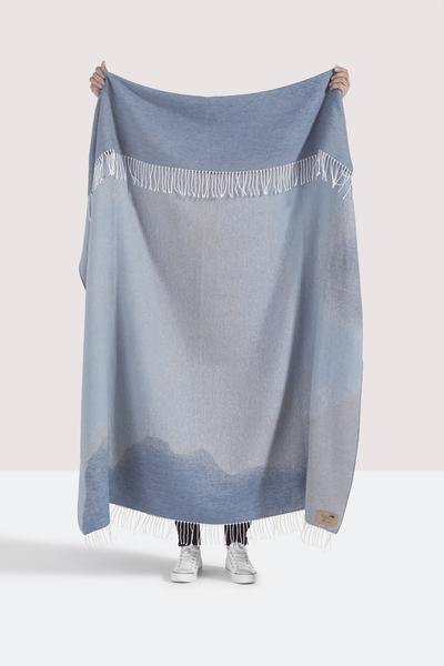 Blue Ombré Cotton Jacquard Throw | Shop By Collection