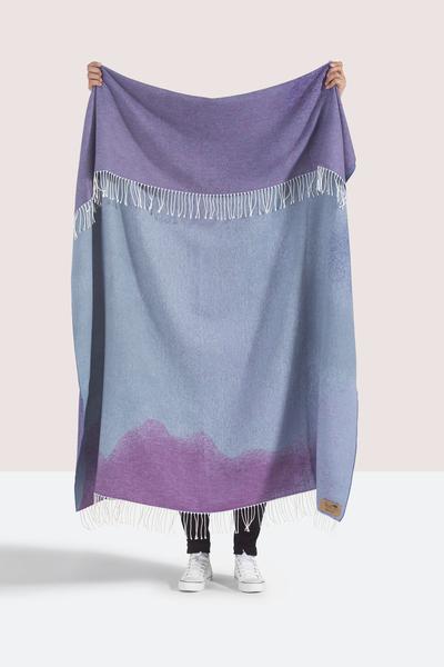 Purple Ombré Cotton Jacquard Throw | Shop By Collection