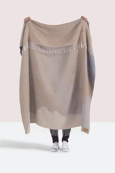 Tan Ombré Cotton Jacquard Throw | Shop By Collection