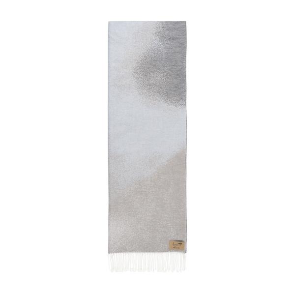 Light Gray Ombré Cotton Jacquard Throw | Ombré Cotton Jacquard