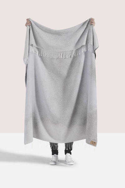 Light Gray Ombré Cotton Jacquard Throw | Shop By Collection