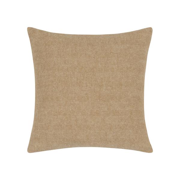 Caramel Herringbone Pillow | Zip Solid Herringbone Pillow