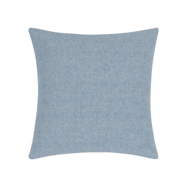 Blue Denim Herringbone Pillow | Zip Solid Herringbone Pillow