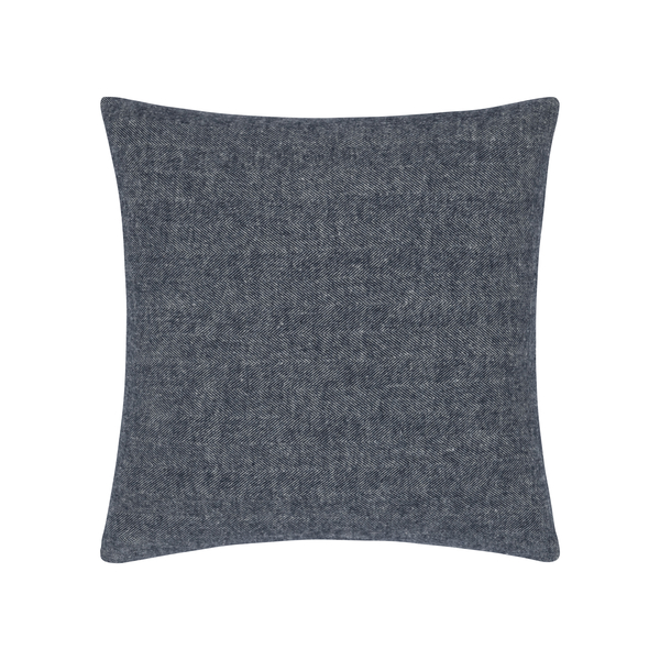 Navy Herringbone Pillow | Zip Solid Herringbone Pillow