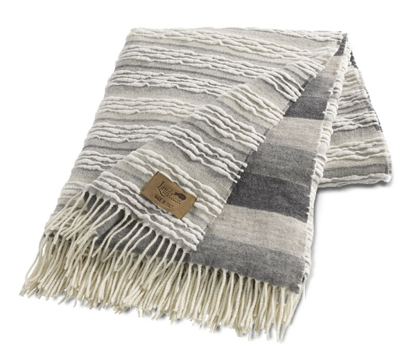 Gray Strato Italian Blanket | Textured Strato Italian Throws