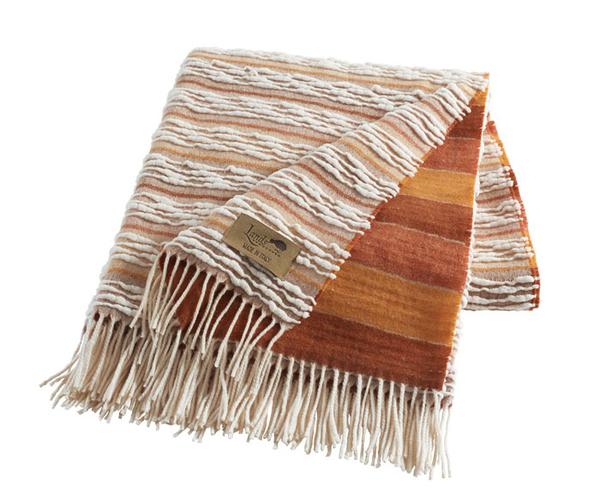 Orange Strato Italian Blanket | Textured Strato Italian Throws
