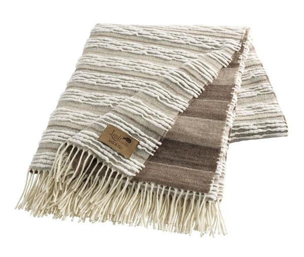 Taupe Strato Italian Blanket | Textured Strato Italian Throws