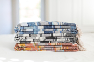 Image Milano Striped Merino Wool Throws