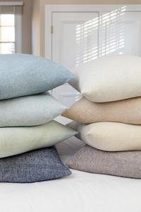 Image Zip Solid Herringbone Pillow