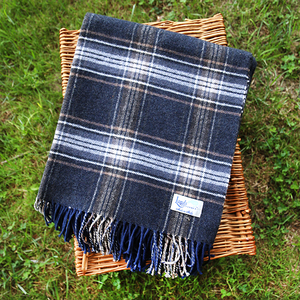 Image Plaid Signature Cotton-Blend Throws