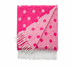 Image Peony Reversible Dot Jacquard Throw
