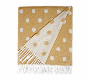 Image Caramel Reversible Dot Jacquard Throw