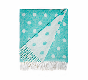 Image Aqua Reversible Dot Jacquard Throw